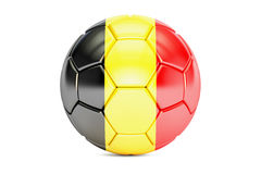 Soccer ball with flag of Belgium, 3D Stock Photos