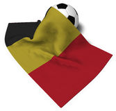 Soccer ball and flag of belgium Stock Photos