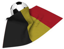 Soccer ball and flag of belgium Royalty Free Stock Photos