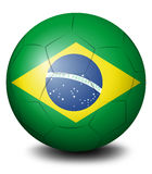 A soccer ball with the flag of Brazil Royalty Free Stock Photography