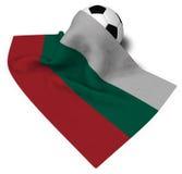 Soccer ball and flag of bulgaria Stock Photos