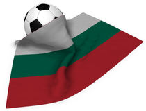 Soccer ball and flag of bulgaria Royalty Free Stock Image