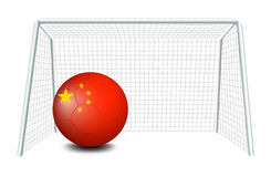 A soccer ball with the flag of China Stock Photos