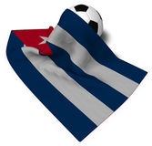 Soccer ball and flag of cuba Royalty Free Stock Photography