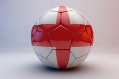 Soccer ball with flag. 3d render of soccer ball with england flag stock illustration