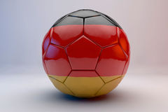 Soccer ball with flag Royalty Free Stock Photography