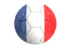 Soccer ball with flag of France, 3D rendering Stock Photography