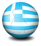 A soccer ball with the flag of Greece Stock Photo