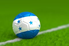Soccer Ball With Honduran Flag 3D Render Royalty Free Stock Images