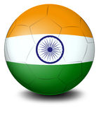 A soccer ball with the flag of India Royalty Free Stock Images