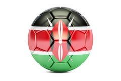 Soccer ball with flag of Kenya Stock Photo