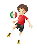 A soccer ball with the flag of Mexico Stock Image