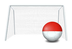 A soccer ball with the flag of Monaco Royalty Free Stock Photo
