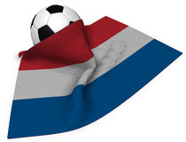 Soccer ball and flag of the netherlands Royalty Free Stock Image