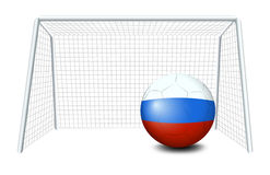 A soccer ball with the flag of Netherlands Stock Photos