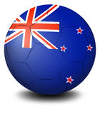 A soccer ball with the flag of New Zealand Royalty Free Stock Photos