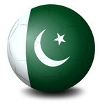 A soccer ball with the flag of Pakistan Stock Image