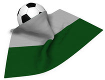 Soccer ball and flag of saxony Stock Photos
