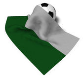 Soccer ball and flag of saxony Royalty Free Stock Images