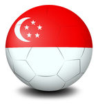 A soccer ball with the flag of Singapore Royalty Free Stock Images