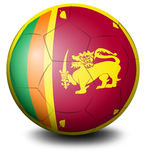 A soccer ball with the flag of Sri Lanka Stock Photos