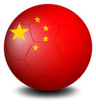 A soccer ball with the flag of Turkey Royalty Free Stock Photo