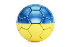 Soccer ball with flag of Ukraine Stock Image