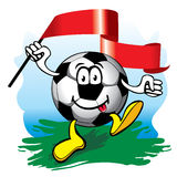 Soccer ball with flag. Vector. Stock Image