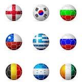 Soccer ball flag Stock Photo