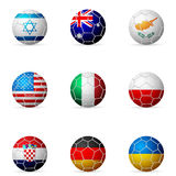 Soccer ball flag Royalty Free Stock Photos