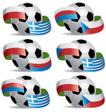 Soccer ball with flags. Vector Soccer ball with flags: Groupe A of euro 2012 Stock Illustration
