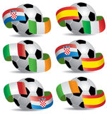 Soccer ball with flags Stock Photography