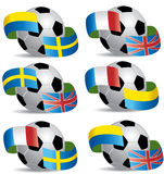 Soccer ball with flags Stock Photo