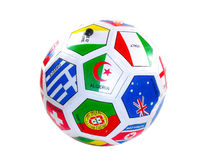Soccer ball with flags Stock Image