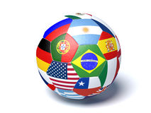 Soccer ball flags Stock Images