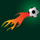Soccer ball. With flame tail Stock Photography