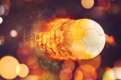 Soccer ball in flames Royalty Free Stock Image