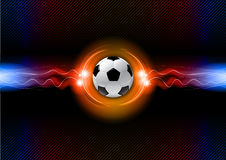 Soccer. Ball on the flashing background Stock Photos