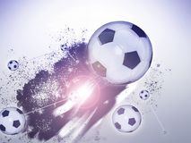 Soccer ball flying in abstract pattern. Soccer ball flying in abstract pattern gris bacground Stock Photography