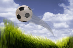 Soccer ball flying. Stock Images