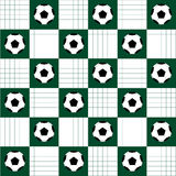 Soccer Ball. Football Ball.Football Ball Green White Chess Board Diamond Background Stock Photography