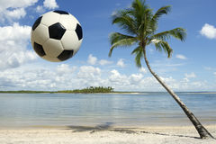 Soccer Ball Football Brazilian Beach Royalty Free Stock Photo