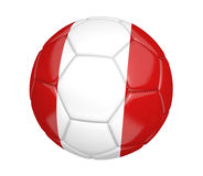 soccer ball, or football, with the country flag of Peru. Rendered in 3D on a white background Royalty Free Stock Photos