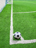 Soccer ball or football field conner Stock Image