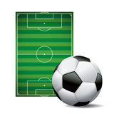 Soccer Ball Football and Field Isolated Illustration Stock Images