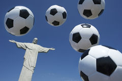 Soccer Ball Football Float at Corcovado Rio de Janeiro Royalty Free Stock Images