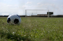 Soccer ball - Football and Goal. Soccer - Football and Goal stock photo