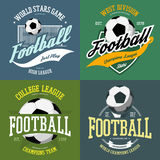 Soccer ball and football goals as sport icon Royalty Free Stock Photography