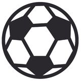 Soccer ball or football. Graphic, white background Royalty Free Stock Photos