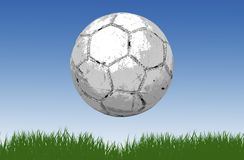 Soccer ball/football grass Stock Images